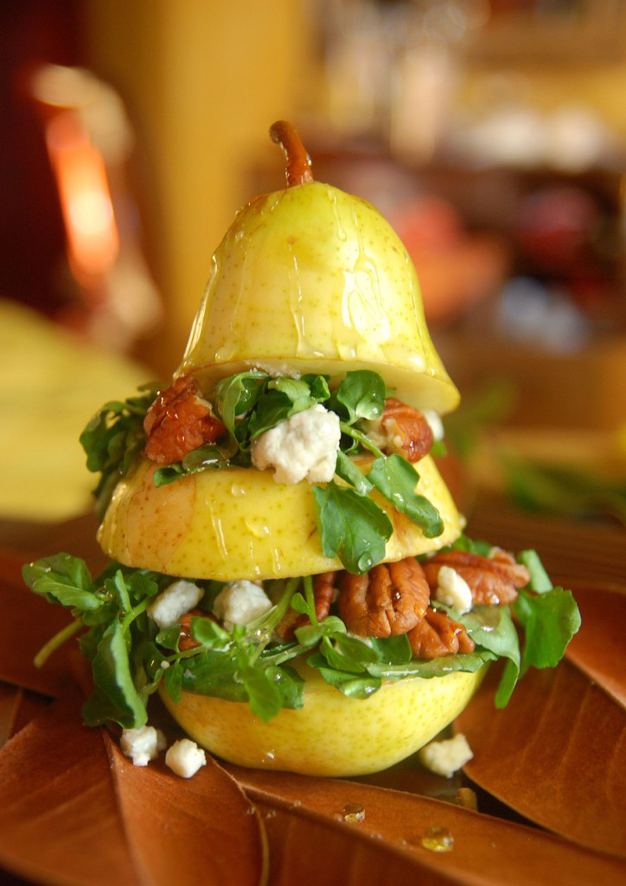 A pear salad with a twist